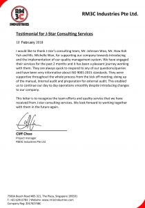 RM3C Testimonial J-star